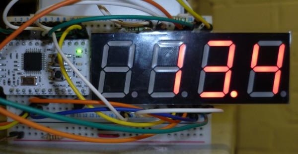 Minimus based temperature sensor
