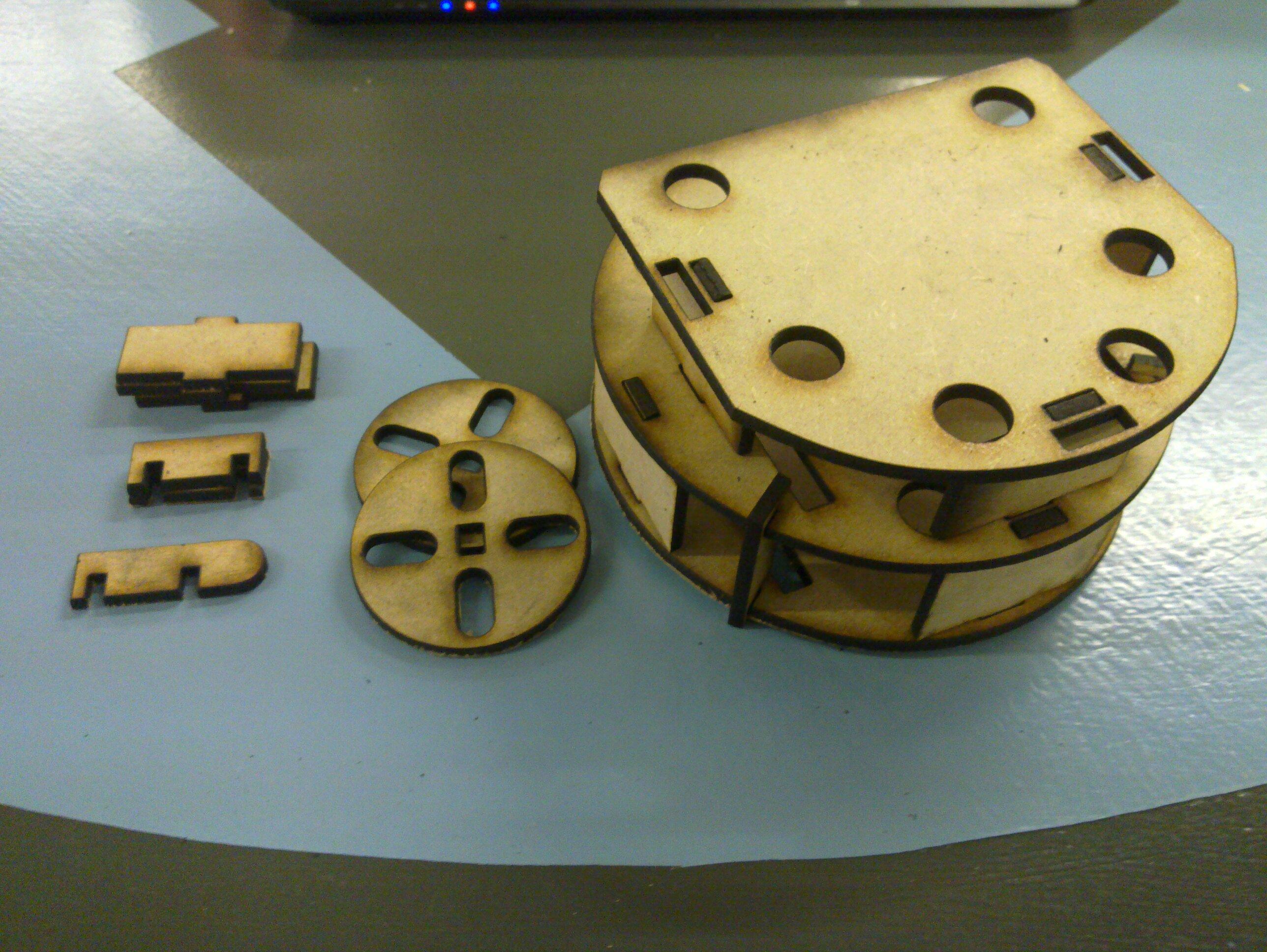 Assembled ShrimpBot frame