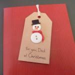 Snowman Card (sleeping)