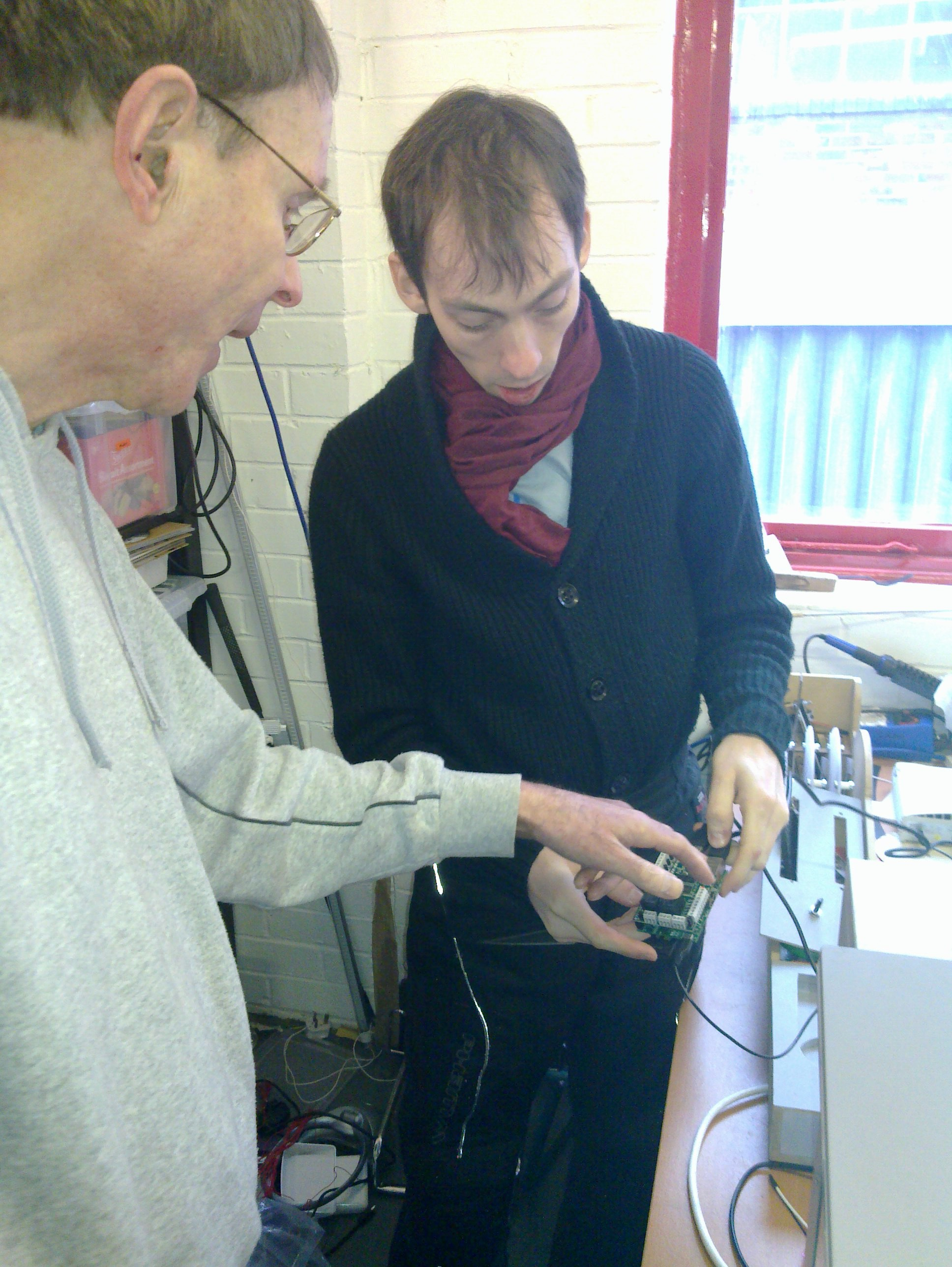 Angus explains the workings of his Minecraft to PiFace hack.