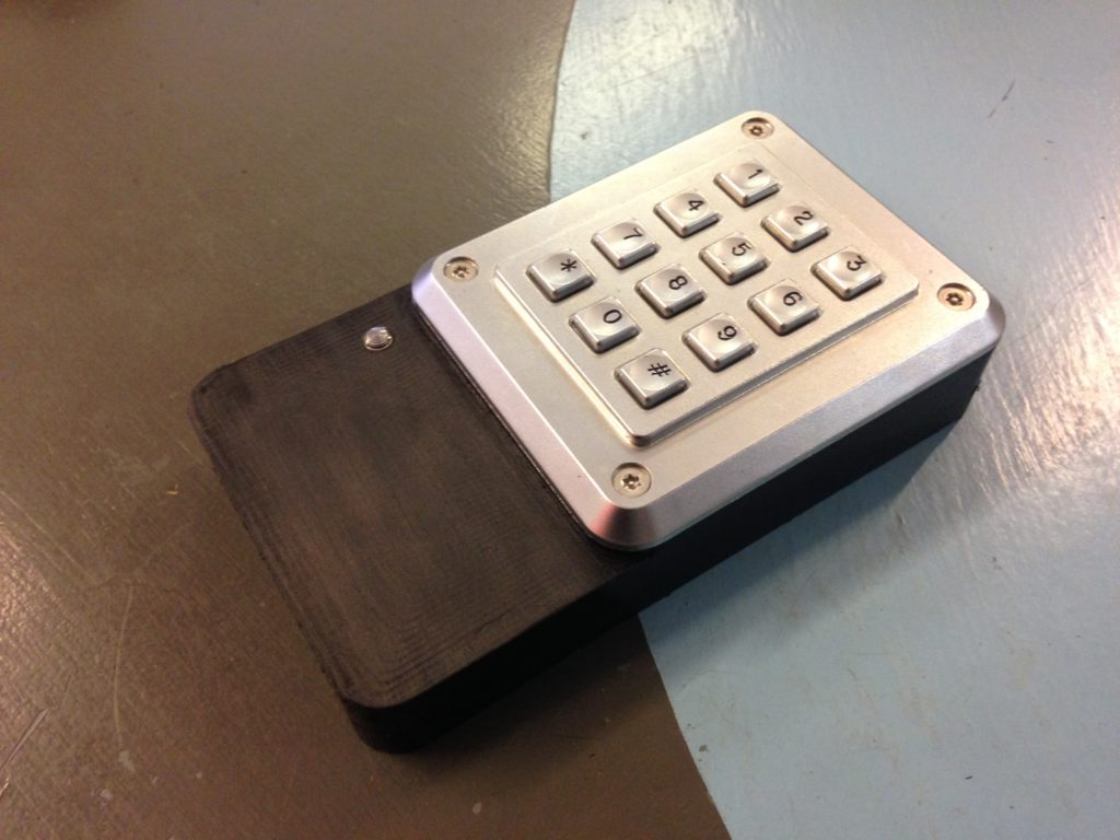 Keypad and LED mounted