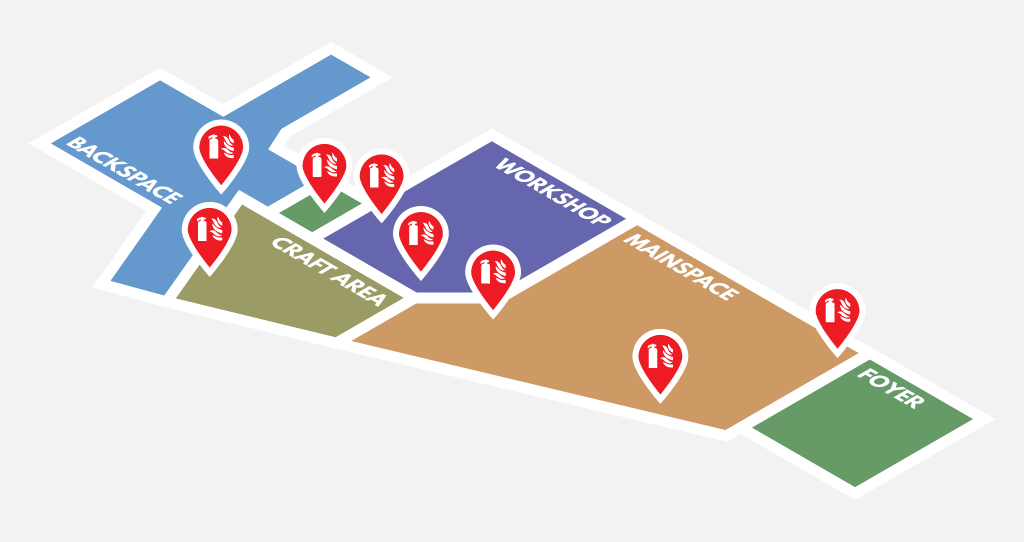 Map of Fire Extinguisher Locations